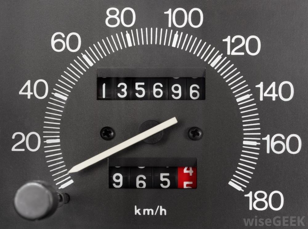 Car mileage tracker odometer