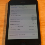 iphone 5 with assistivetouch turned on