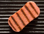 Spam being grilled
