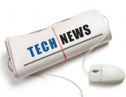 Newspaper with title of Tech News