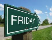 FRIDAY road sign