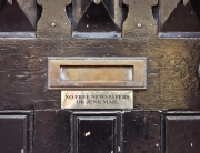 Letterbox for junk mail and newsletters