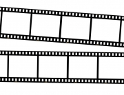 Film strips isolated on white.